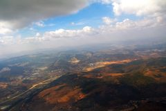 Aerial Photography and clouds. Of China Royalty Free Stock Photos
