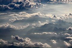 Aerial  photography with clouds Stock Images