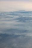 Aerial  photography with clouds Royalty Free Stock Photos