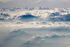 Aerial  photography with clouds Stock Image