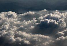 Aerial  photography with clouds Stock Photo