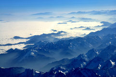 Aerial photography with clouds Royalty Free Stock Image