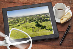 Aerial photography concept Royalty Free Stock Images