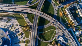Aerial Photography of Concrete Bridge Royalty Free Stock Image