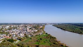 Aerial photography of Coueron. Aerial view of Coueron city in Loire Atlantique stock photos
