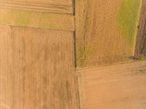 Abstract background. Aerial photography of a field Stock Images