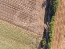 Abstract background. Aerial photography of a field Royalty Free Stock Photos