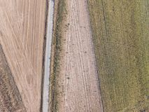 Abstract background. Aerial photography of a field Stock Photography