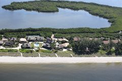 Aerial photography Florida royalty free stock image