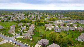 Aerial Photography of Gray Houses stock images