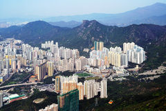 Aerial photography of Hong Kong  Stock Images