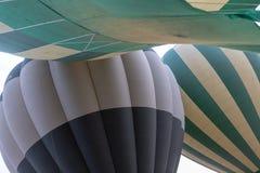 Hot Air Balloon over the Masai Mara, Kenya, Africa stock photo