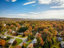 Aerial Photography of Houses Surrounded by Trees stock photography