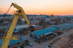 Aerial photography industrial area of a big city