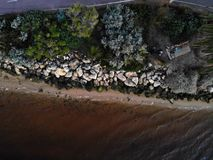 Aerial Photography of Island stock image