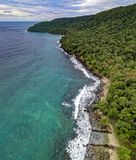 Aerial Photography of an Island royalty free stock photography
