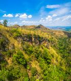 Aerial photography landscape. Of Thanlod Yai cave to Thanlod Noi cave between two caves there have many waterfall along the way water from Thanlod Yai cave pass Royalty Free Stock Photography