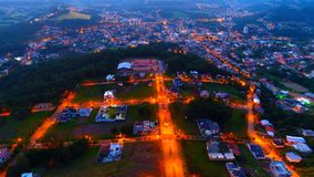 Aerial Photography of Lighted Houses Taken during Nighttime Stock Photos