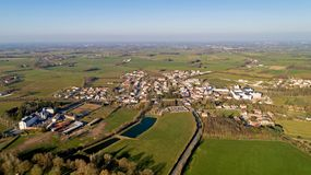 Aerial photography of Mormaison village in Vendee royalty free stock photography