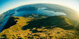Aerial Photography of Mountain Near on Body of Water Royalty Free Stock Photo
