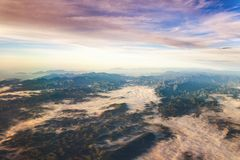 Aerial Photography Of Mountains stock photography