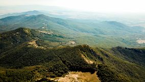 Aerial Photography of Mountains royalty free stock images