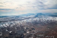 Aerial Photography Of Mountains royalty free stock photography