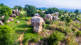 Aerial photography natural stone sculpture at Mo Hin Khao Stock Photos
