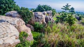 Aerial photography natural stone sculpture at Mo Hin Khao Royalty Free Stock Photos