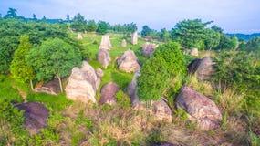 Aerial photography natural stone sculpture at Mo Hin Khao Stock Images