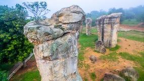 Aerial photography natural stone sculpture at Mo Hin Khao Royalty Free Stock Photography