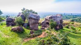 Aerial photography natural stone sculpture at Mo Hin Khao Stock Photography