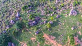 Aerial photography natural stone sculpture at Mo Hin Khao Stock Photo