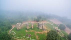 Aerial photography natural stone sculpture at Mo Hin Khao Royalty Free Stock Photo