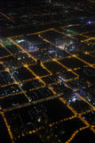 Aerial photography at night Stock Photography