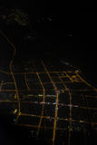 Aerial photography at night Royalty Free Stock Images