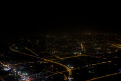 Aerial photography at night Royalty Free Stock Photography