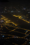 Aerial photography at night Stock Image