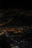 Aerial photography at night Stock Images