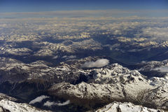 Aerial photography over the Alps Stock Photo