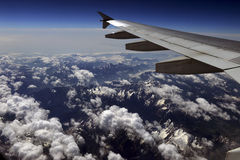 Aerial photography over the Alps Royalty Free Stock Image