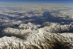 Aerial photography over the Alps Stock Photos