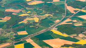 Aerial photography over the suburbs of paris Royalty Free Stock Photos