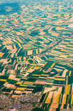 Aerial photography over the suburbs of paris Stock Images