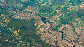 Aerial photography over the suburbs of paris Stock Image