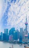 Aerial photography at Shanghai bund Skyline Royalty Free Stock Image