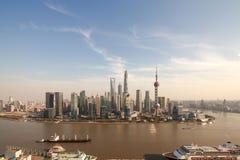 Aerial photography Shanghai skyline Stock Photos