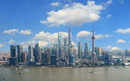 Aerial photography Shanghai skyline Stock Photography