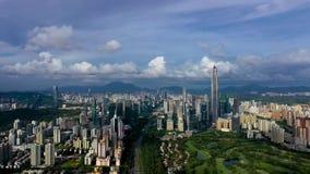 Aerial photography of Shenzhen city skyline