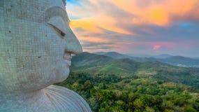 Aerial photography sweet sunset at Phuket`s big Buddha Royalty Free Stock Photos